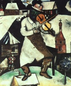 "Marc Chagall, ""The Fiddler"""